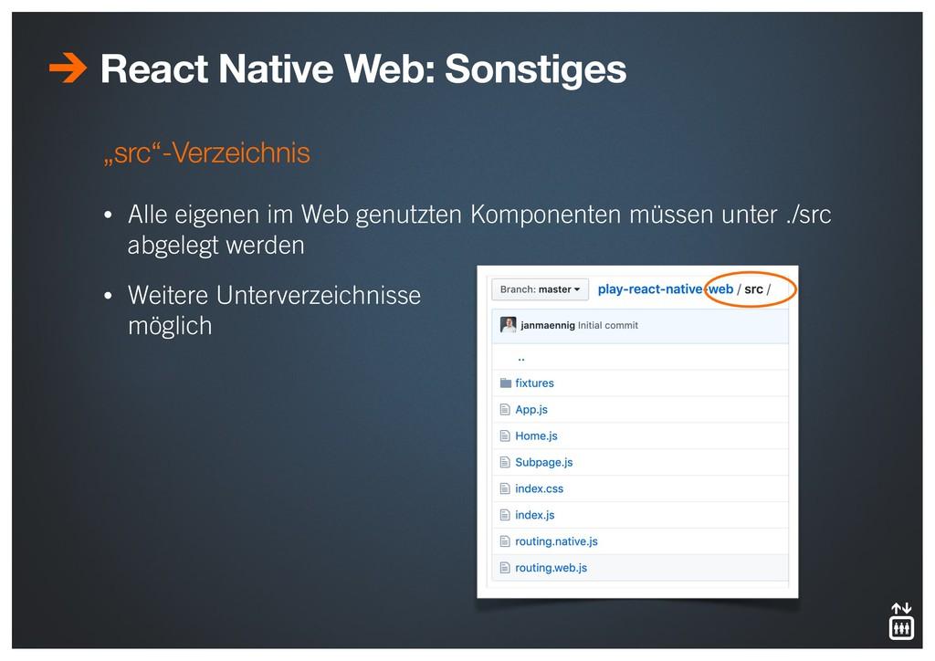 """""""src""""-Verzeichnis • Alle eigenen im Web genutzt..."""