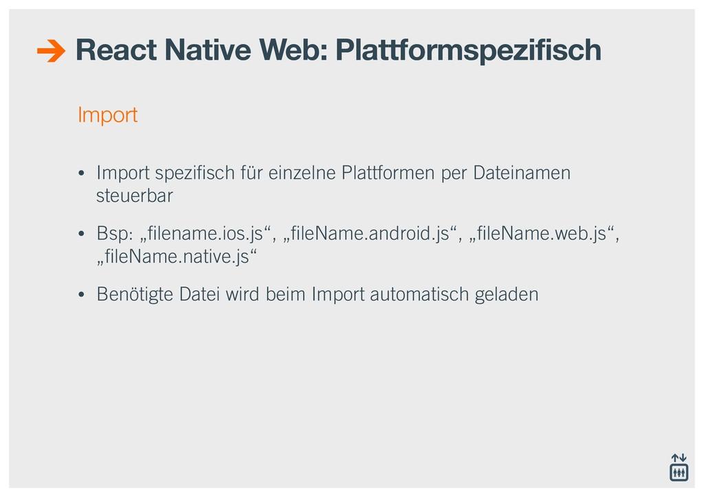 Import • Import spezifisch für einzelne Plattfor...