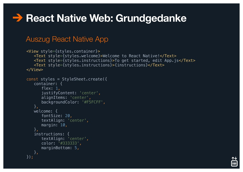 React Native Web: Grundgedanke <View style={sty...