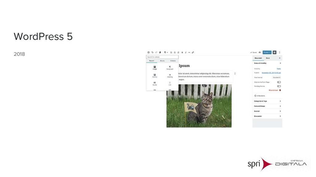 WordPress 5 2018