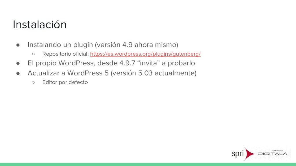 Instalación ● Instalando un plugin (versión 4.9...
