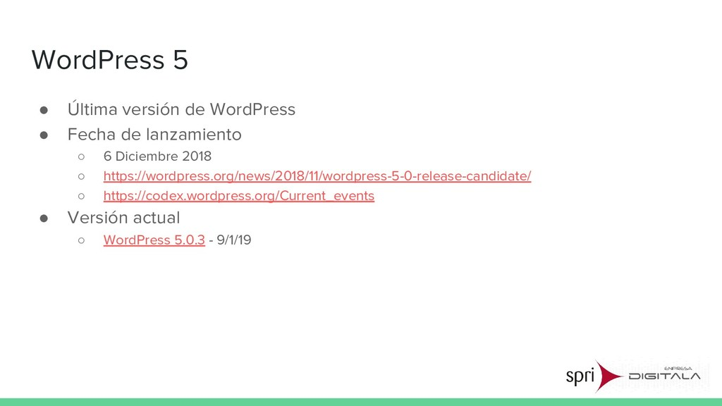 WordPress 5 ● Última versión de WordPress ● Fec...