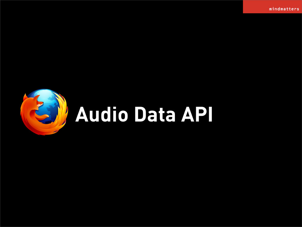 Audio Data API
