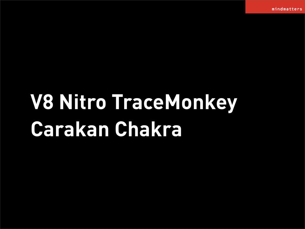 V8 Nitro TraceMonkey Carakan Chakra