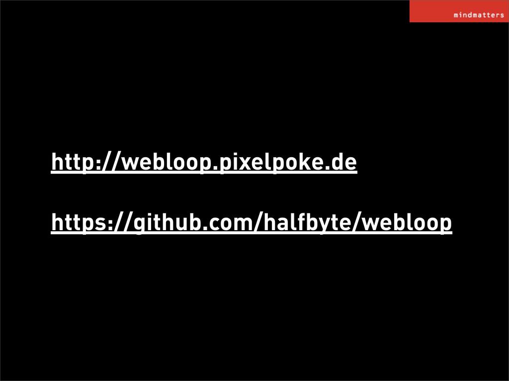 http://webloop.pixelpoke.de https://github.com/...