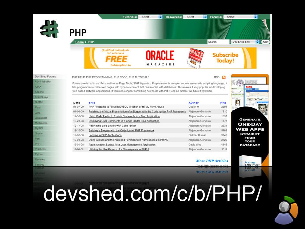 devshed.com/c/b/PHP/