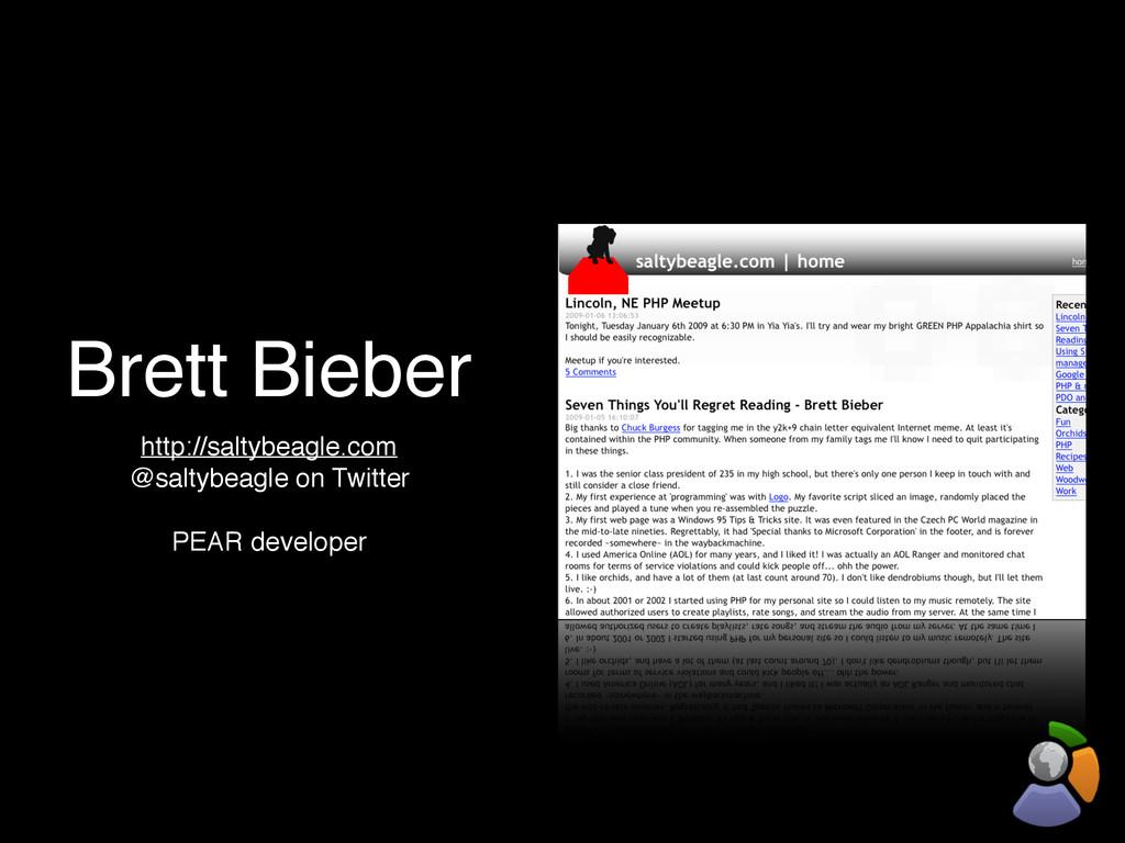 Brett Bieber http://saltybeagle.com @saltybeagl...