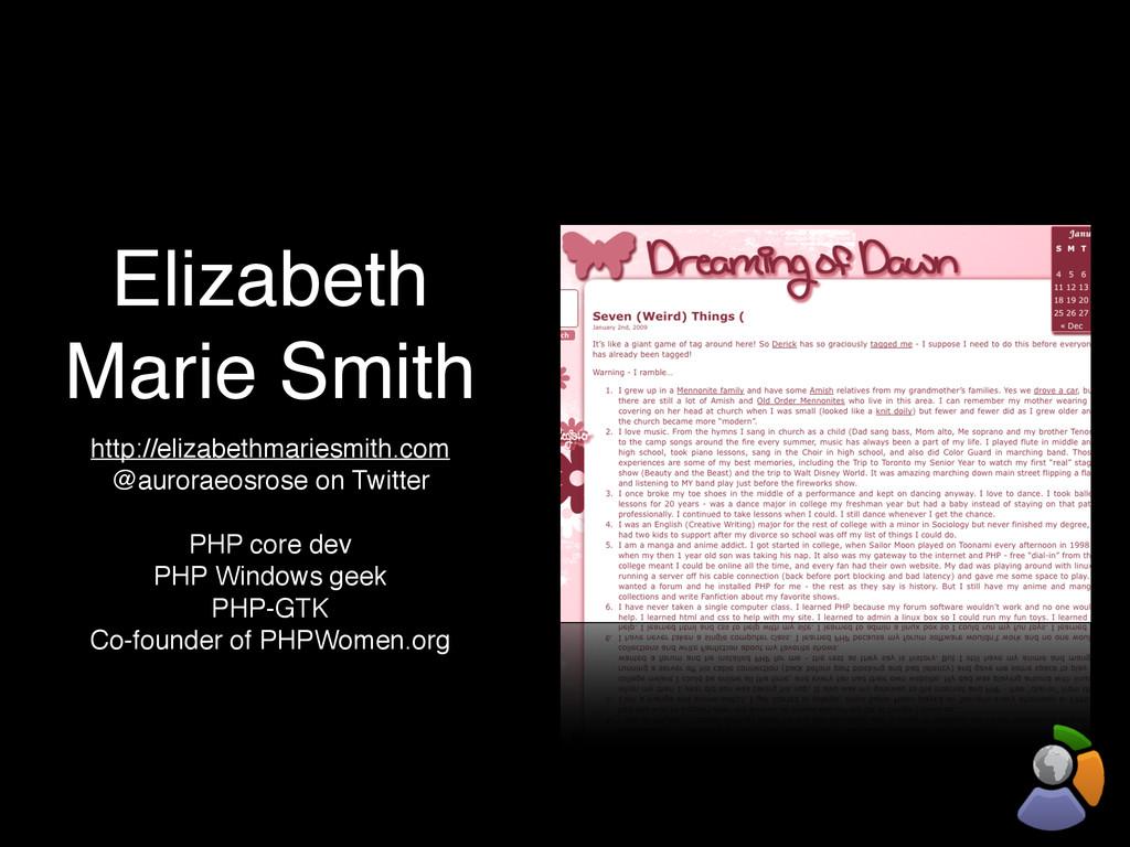 Elizabeth Marie Smith http://elizabethmariesmit...