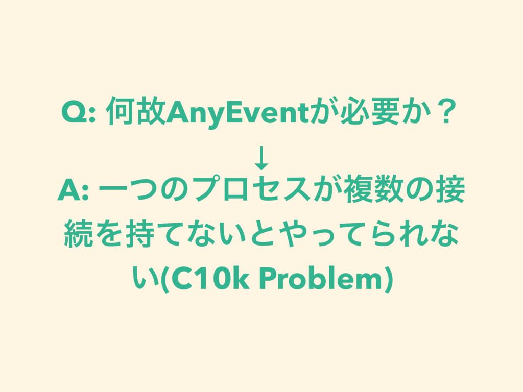 Q: ԿނAnyEvent͕ඞཁ͔ʁ ↓ A: Ұͭͷϓϩηε͕ෳͷ ଓΛͯͳ͍ͱͬ...