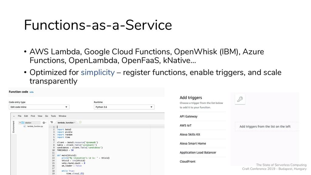 Functions-as-a-Service • AWS Lambda, Google Clo...