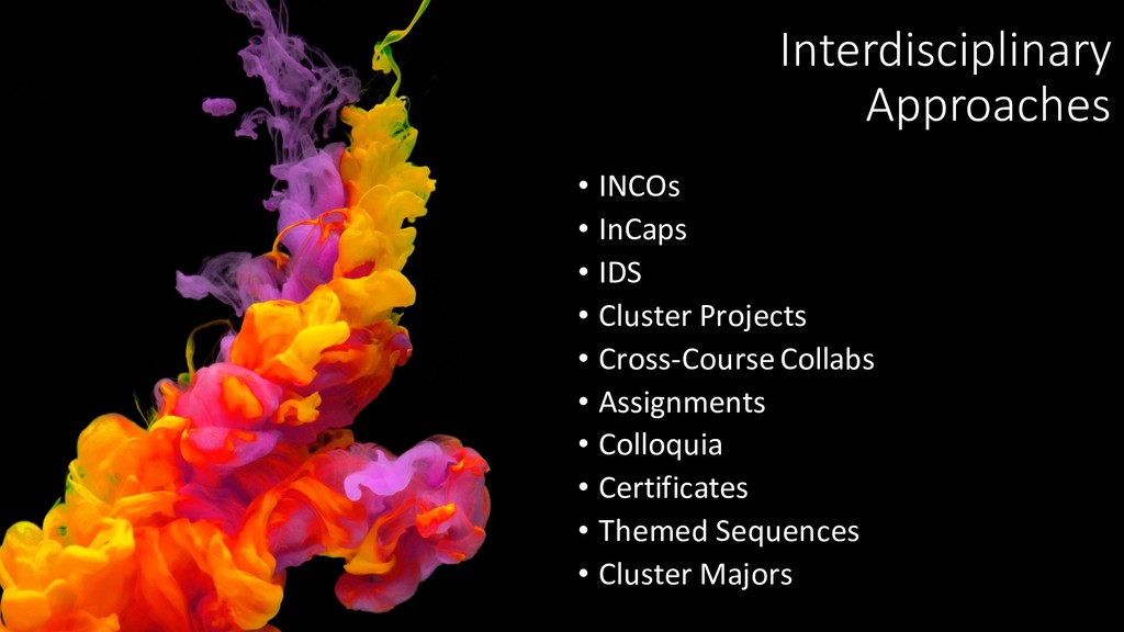 Interdisciplinary Approaches • INCOs • InCaps •...