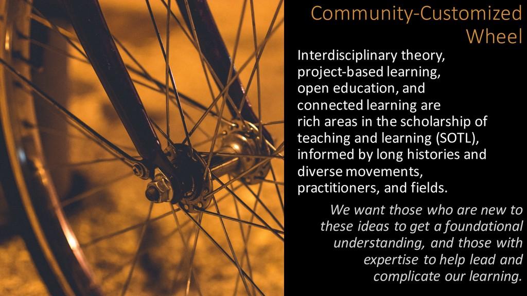 Community-Customized Wheel Interdisciplinary th...
