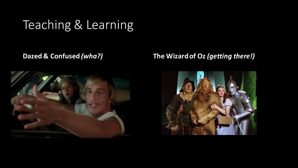 Teaching & Learning Dazed & Confused (wha?) The...