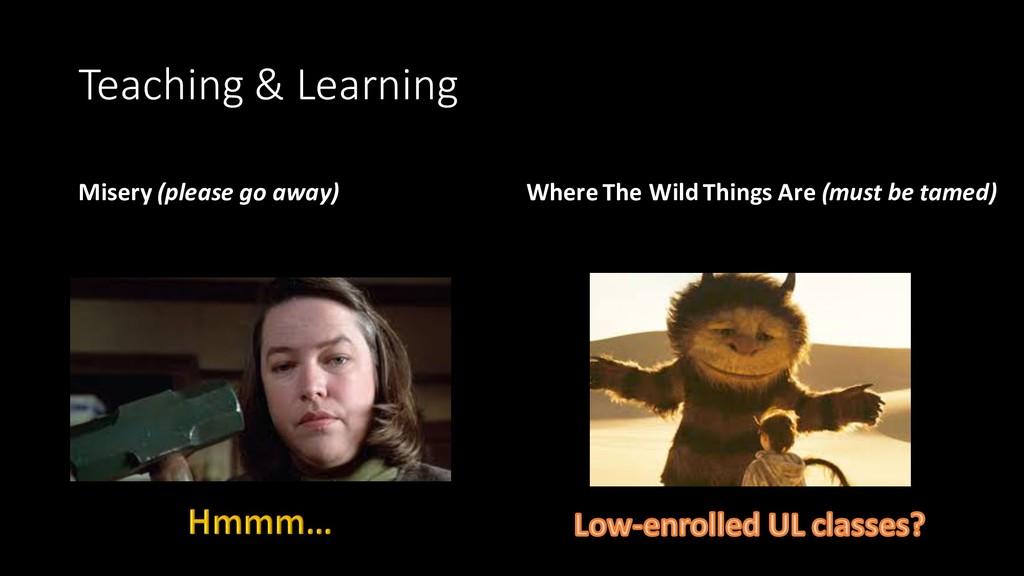 Teaching & Learning Misery (please go away) Whe...