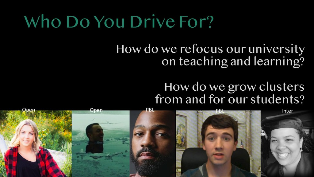 Who Do You Drive For? How do we refocus our uni...