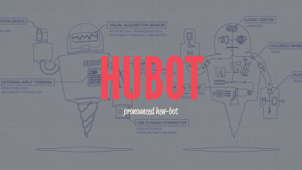 HUBOT pronounced hew-bot