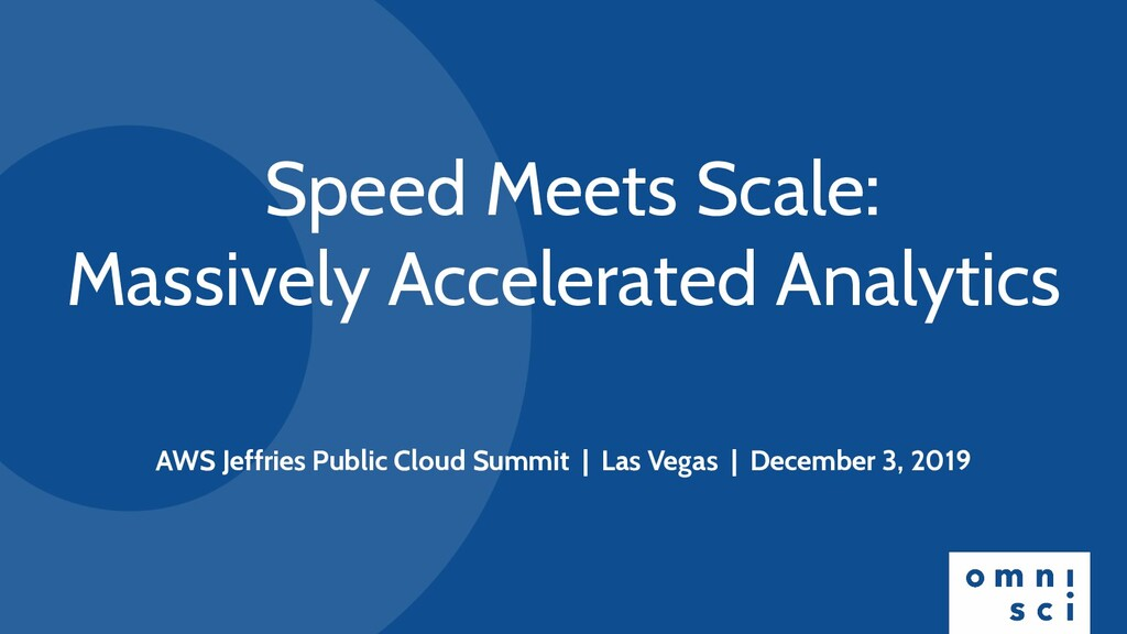 Speed Meets Scale: Massively Accelerated Analyt...