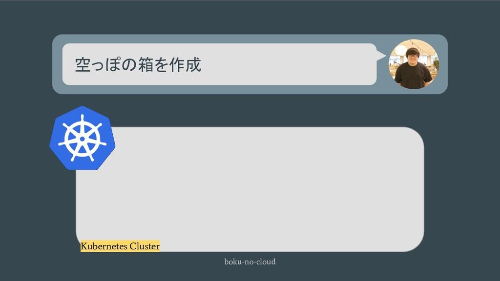 空っぽの箱を作成 boku-no-cloud Kubernetes Cluster