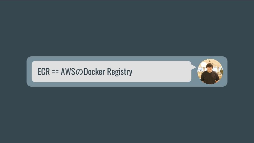 ECR == AWSのDocker Registry