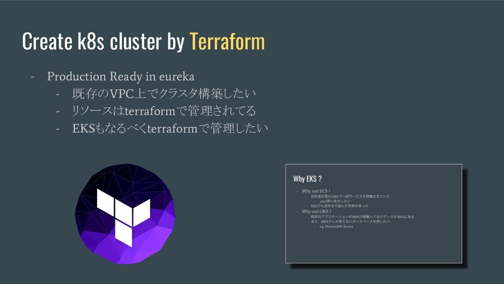 Create k8s cluster by Terraform - Production Re...
