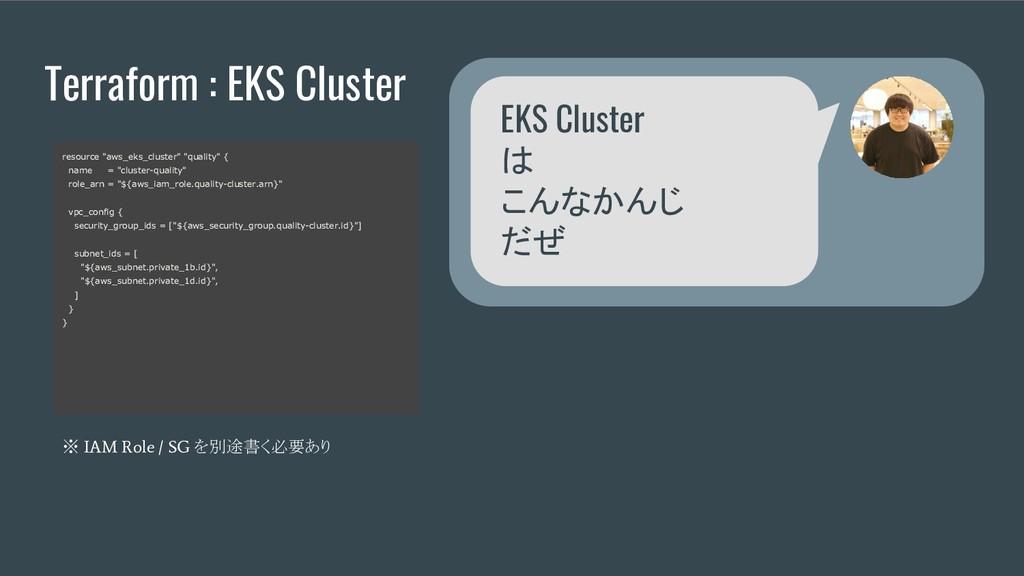 "Terraform : EKS Cluster resource ""aws_eks_clust..."