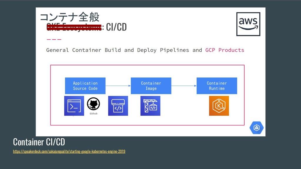 Container CI/CD https://speakerdeck.com/sakajun...