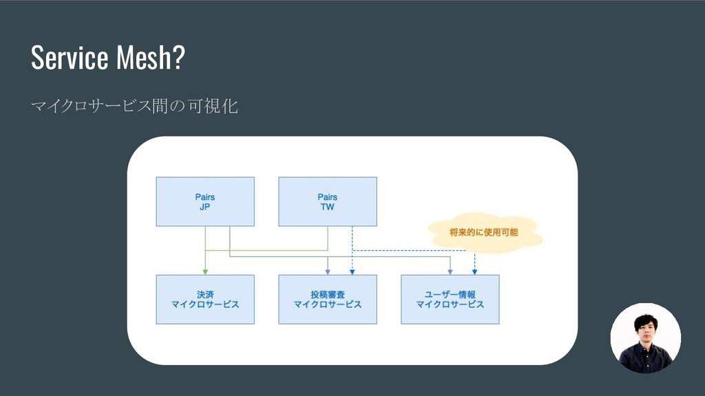 Service Mesh? マイクロサービス間の可視化