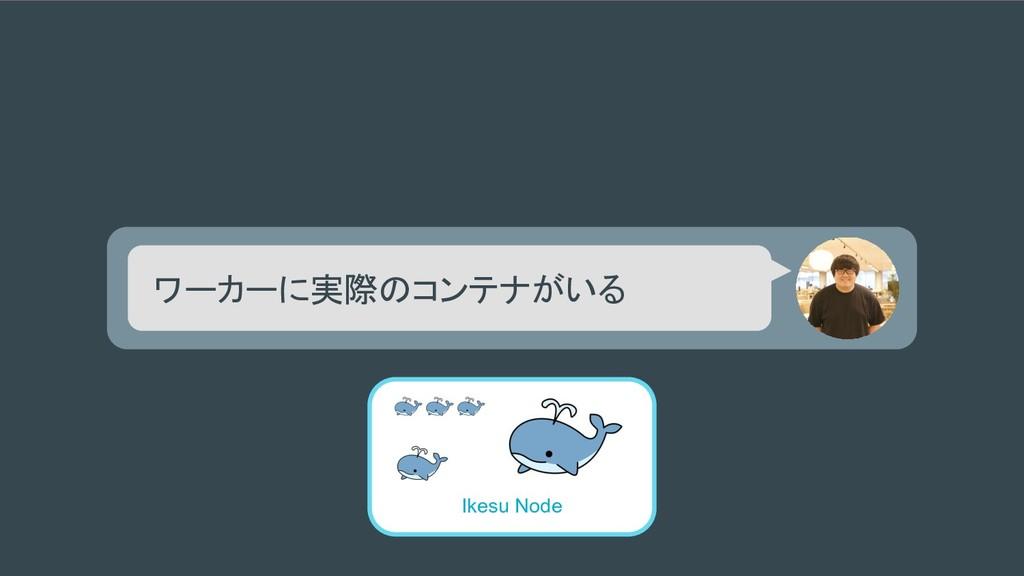 ワーカーに実際のコンテナがいる Ikesu Node
