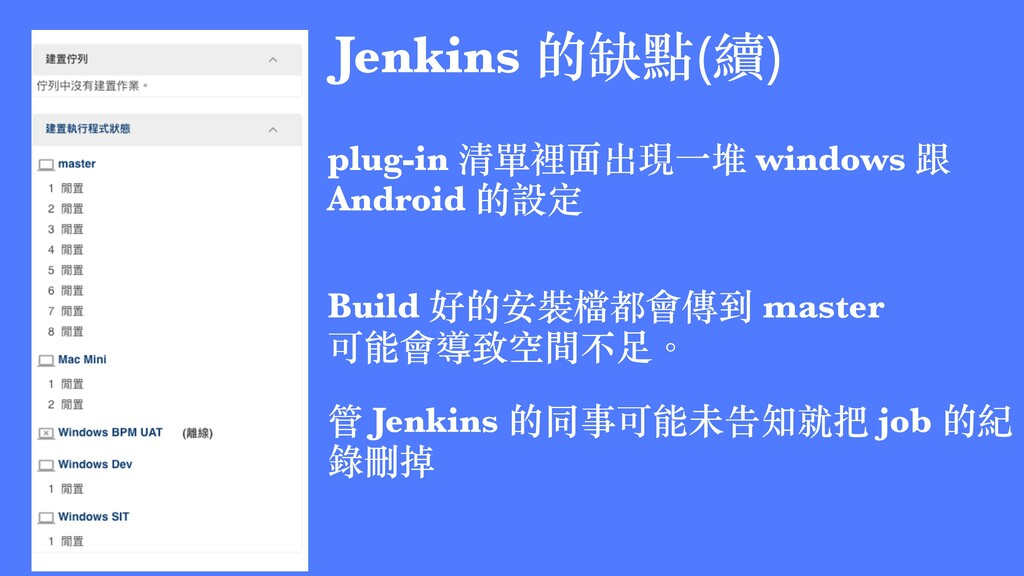 plug-in 清單裡⾯出現⼀堆 windows 跟 Android 的設定 Build 好的...