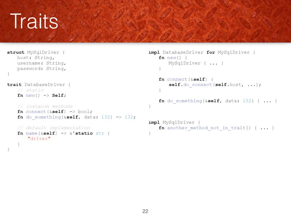 struct MySqlDriver { host: String, username: St...