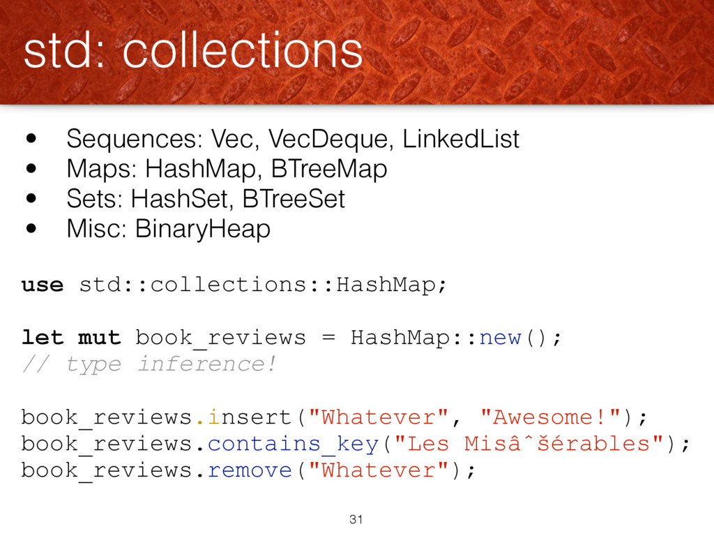 use std::collections::HashMap; let mut book_rev...