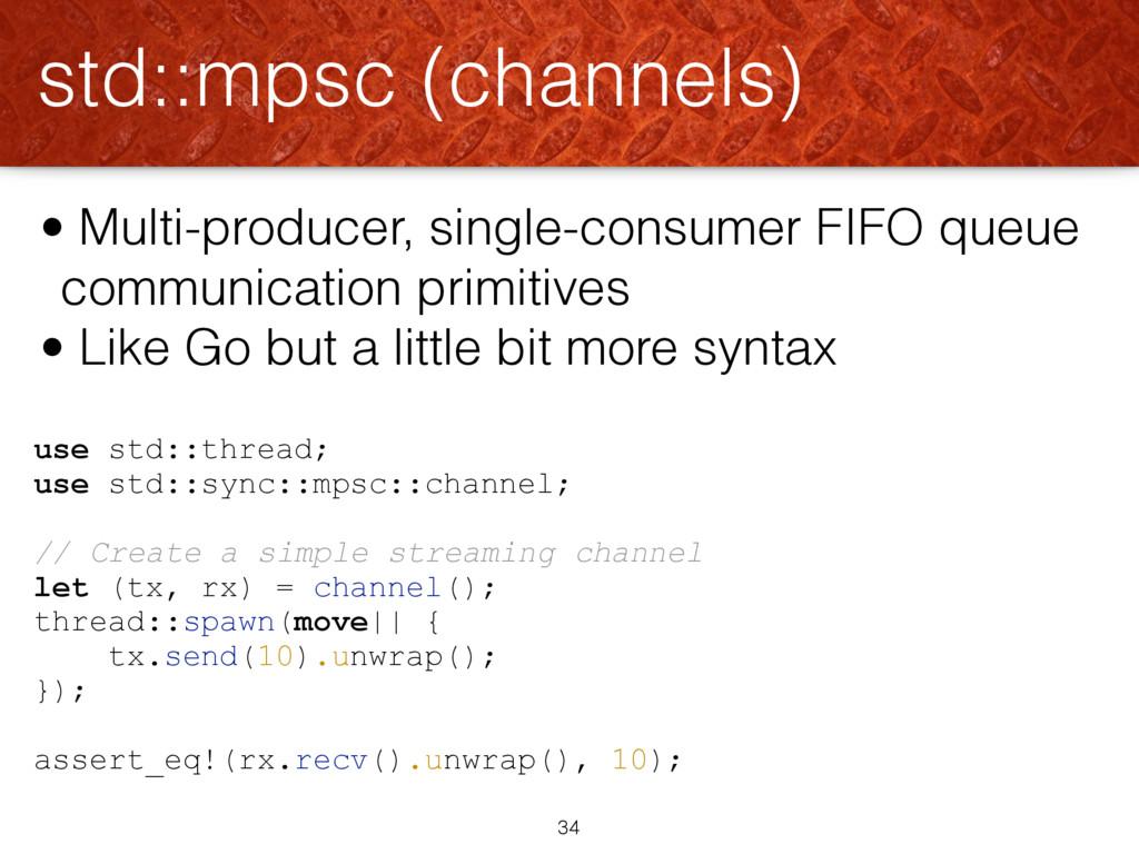 use std::thread; use std::sync::mpsc::channel; ...