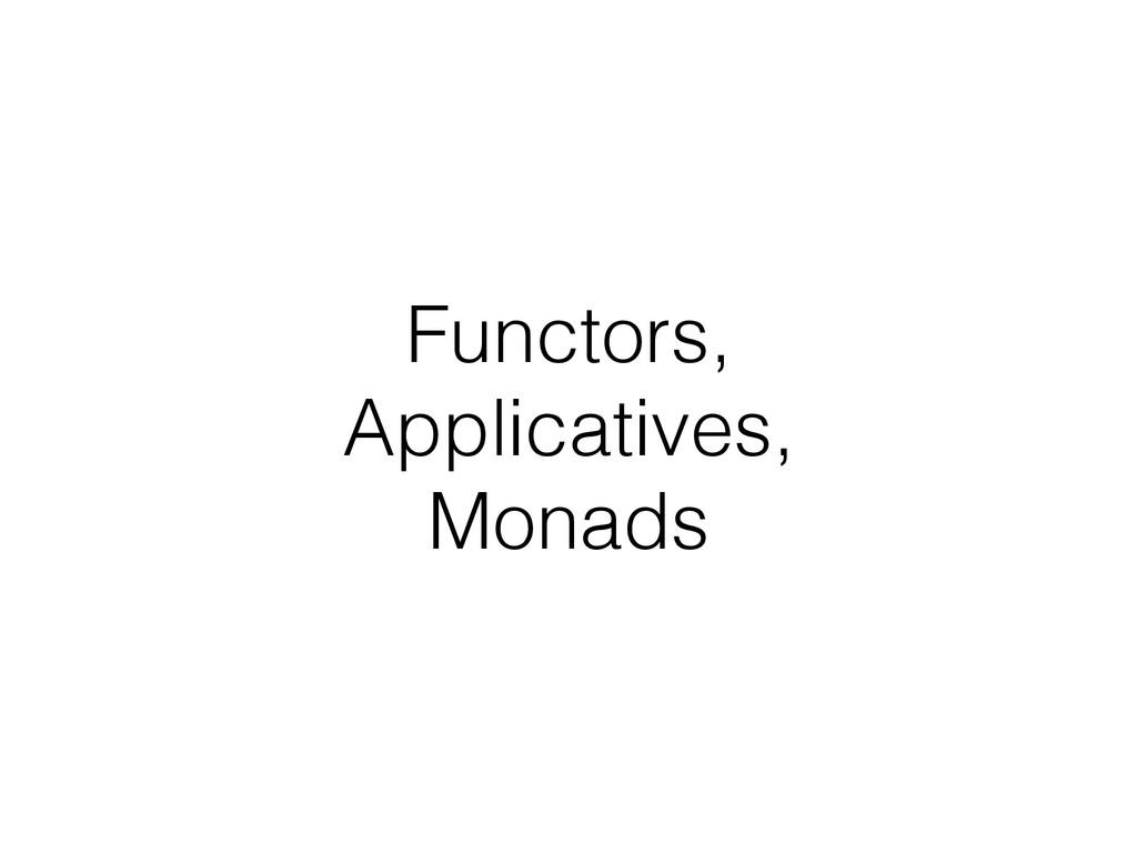 Functors, Applicatives, Monads