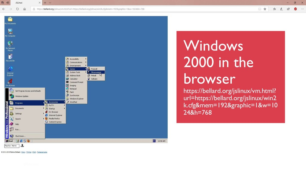 @boyanio Windows 2000 in the browser https://be...