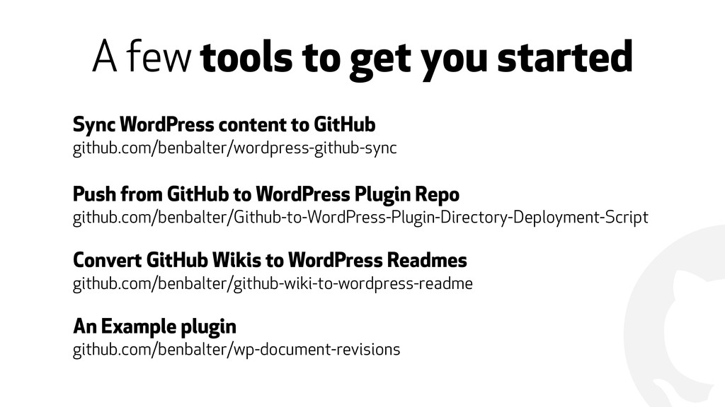! A few tools to get you started Sync WordPress...