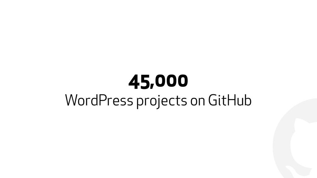 ! 45,000 WordPress projects on GitHub