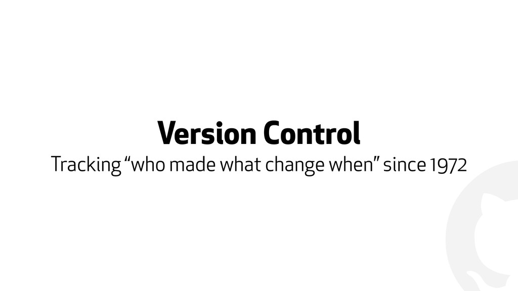 """! Version Control Tracking """"who made what chang..."""