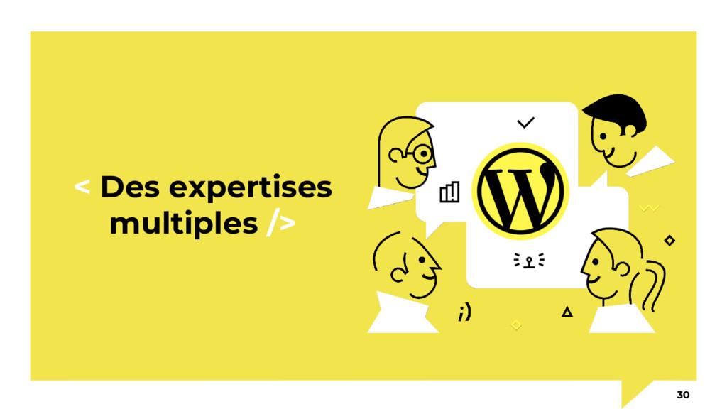 < Des expertises multiples /> 30