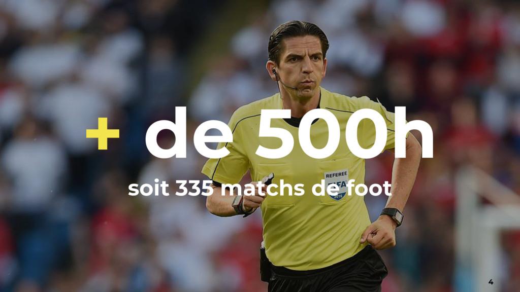 + de 500h soit 335 matchs de foot 4