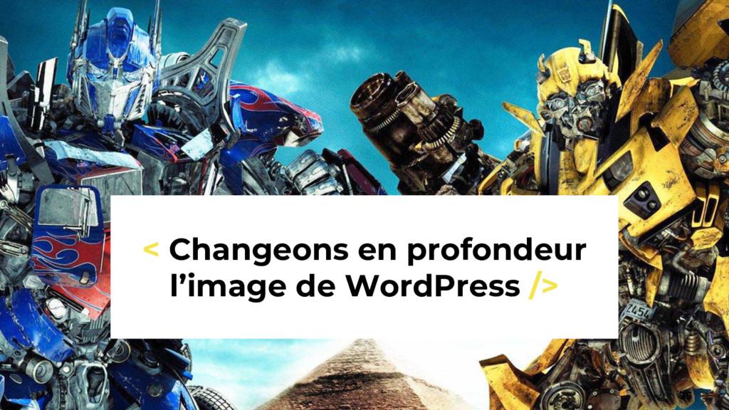 35 < Changeons en profondeur l'image de WordPre...