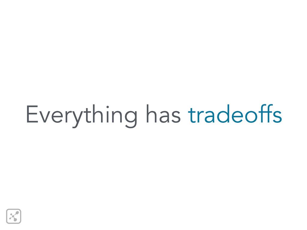 Everything has tradeoffs