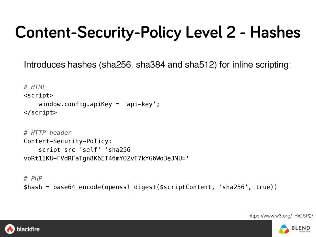 Introduces hashes (sha256, sha384 and sha512) f...