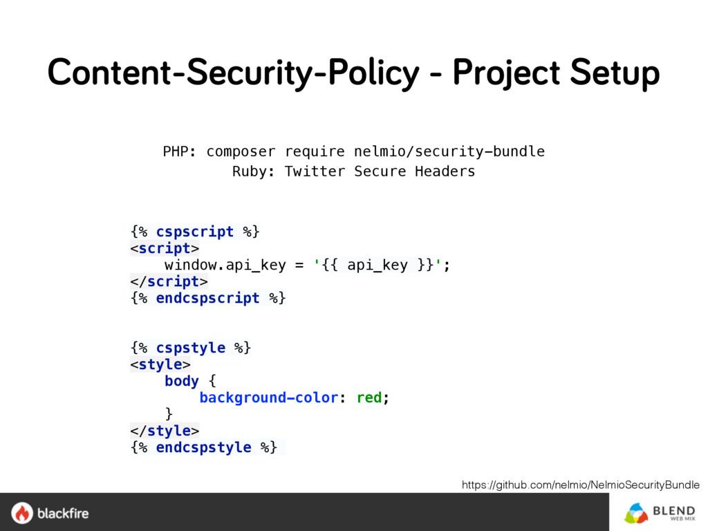 PHP: composer require nelmio/security-bundle R...