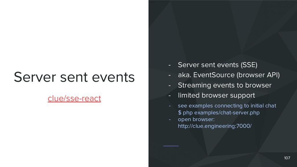 Server sent events clue/sse-react - Server sent...