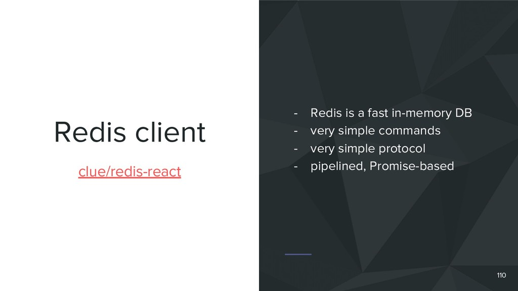 Redis client 110 clue/redis-react - Redis is a ...