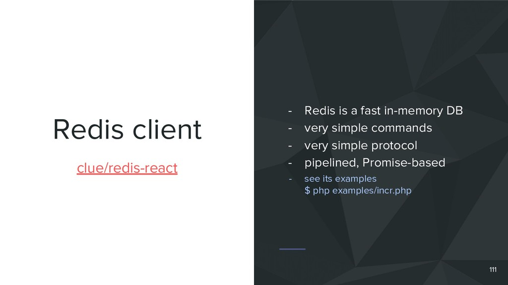 Redis client 111 clue/redis-react - Redis is a ...