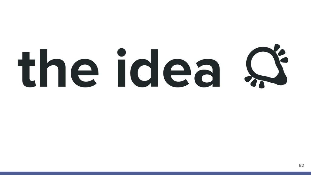 the idea  52