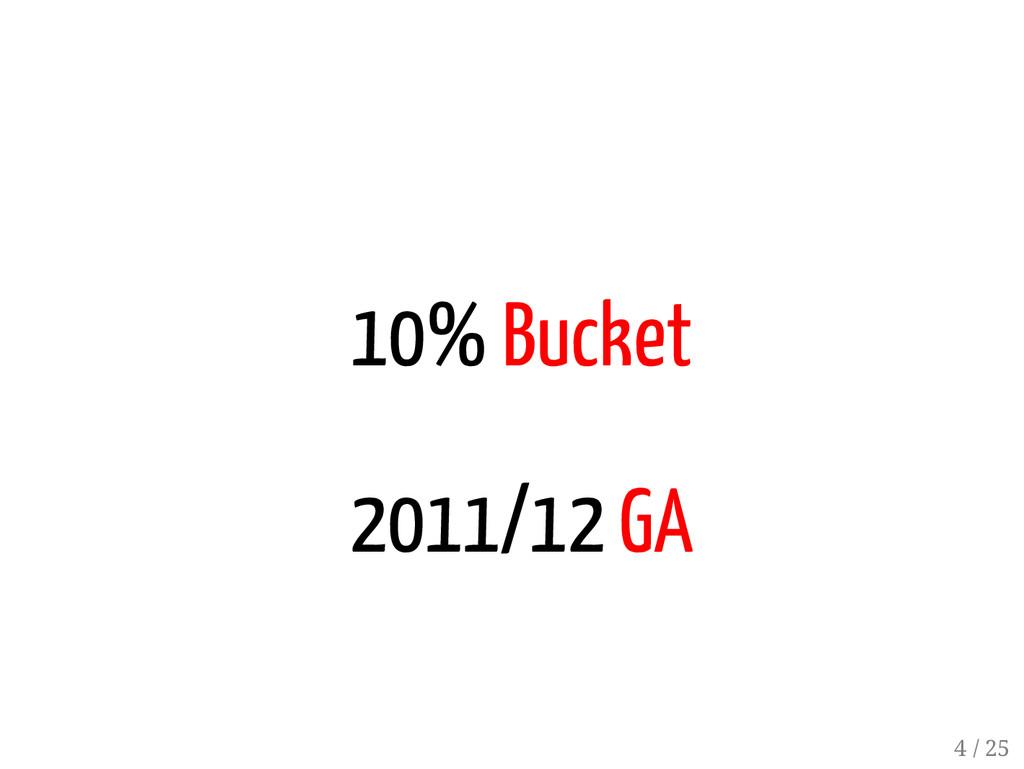 3 / 25 10% Bucket 2011/12 GA 4 / 25