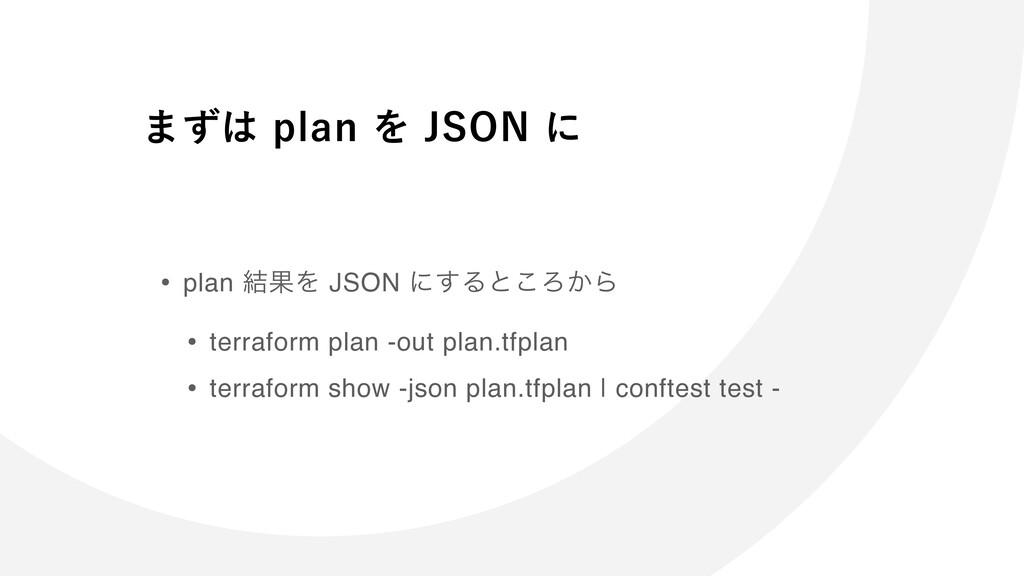 ·ͣQMBOΛ+40/ʹ • plan ݁ՌΛ JSON ʹ͢Δͱ͜Ζ͔Β • te...