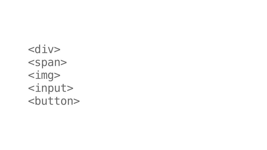 <div> <span> <img> <input> <button>
